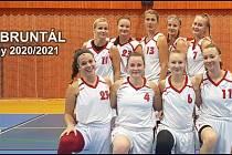 Michaela Šandová (vlevo nahoře) hrající trenérka BK Bruntál