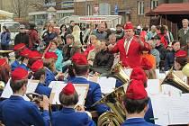 Krnovské hudební slavnosti se samozřejmě neobejdou bez koncertu Dechového orchestru mladých (DOM) Krnov.