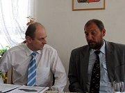 Ministr životního prostředí a šéf strany Zelených Martin Bursík navštívil v pondělí Nové Heřminovy.