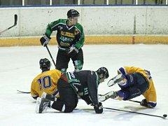 Hornobenešovští hokejisté inkasovali osm branek a dnes jim půjde o postup.
