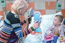 Eva Pastušková a vězni z Opavy vyrobili dětem z krnovské nemocnice látkové panenky.