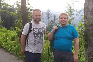 Dva Krnované šli po trase hladového pochodu Hungermarsch.