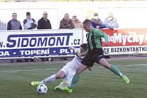 Obětavost zdobila v neděli fotbalisty Krnova, body jim to ale nepřineslo. Ve skluzu Marek Havlíček.