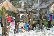 Jarní svod psů loveckých plemen v Razové.