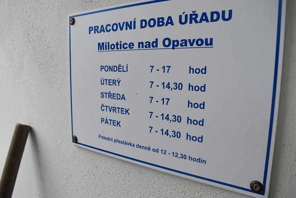 Starosta Milotic nad Opavou Jan Palupčík.