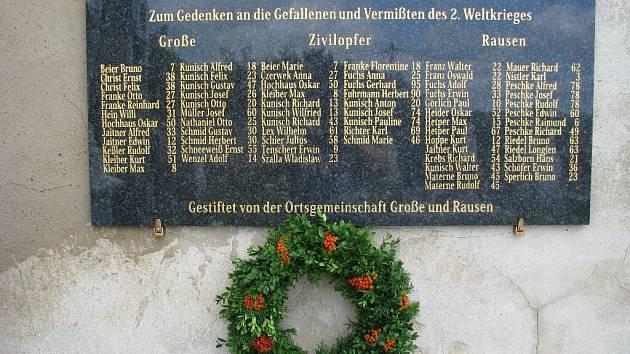 Pamětní deska na hřbitově v Hrozové připomíná na sedmdesát jmen rodáků z Hrozové, Rusína a Matějovic,  kteří zahynuli v důsledku válečných událostí v letech 1939 až 1945.