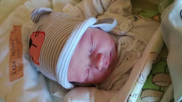 Jmenuji se MATYÁŠ RADA, narodil jsem se 16. května 2019, při narození jsem vážil 3590 gramů a měřil 49 centimetrů. Jeseník.