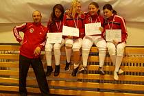 Fleretistka Klára Remešová (druhá zprava) se společně se svými týmovými kolegyněmi stala mistryní České republiky v kategorii kadetek, mezi juniorkami skončila děvčata na druhém místě.