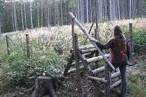 Akce Zasaď si svůj strom proběhla na této pasece u Býkova v roce 2008. Někdejší sazeči však po roce stromky se svoji jmenovkou nemohli v zarostlé džungli najít.