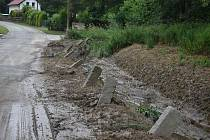 Bouřka škodila. Tak to vypadalo ráno v sobotu 10. července 2021 v Trmanticích, asi 300 metrů od Krnova.
