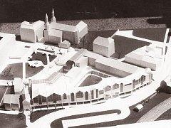 Vlastimil Zillich se v roce 1992 inspiroval historií Krnova. Navrhl na náměstí Minoritů moderní obdobu měšťanských domů s podloubím, na které navazuje replika dávno zbořené středověké Opavské brány. Ze snů a smělých vizí zbyl jen tento model.