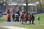 Rozmístění košů na discgolfovém hřišti je zvoleno tak, aby nedocházelo ke střetu mezi hráči a lidmi, kteří do parku chodí na procházky.