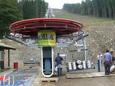 Testování lanovky.