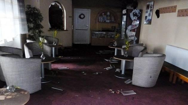 Noční požár zničil recepci v přízemí Střeleckého domu, který patří k nejvýznamnějším stavbám Krnova.