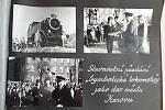 Historické snímky dokazují, že železničáři v čele s budoucím ministrem dopravy Vladimírem Blažkem darovali lokomotivu Bufan městu Krnov.