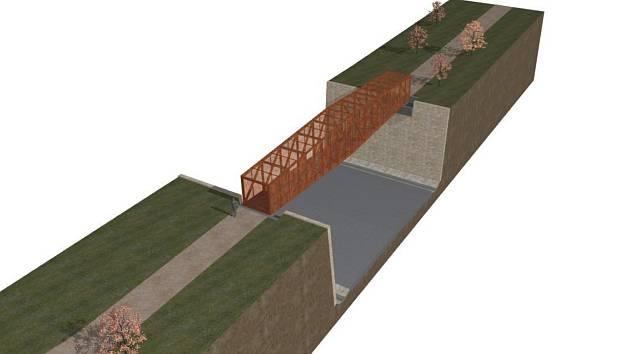 Město Krnov financuje projektovou dokumentaci dvou lávek pro pěší a cyklisty nad západním obchvatem.   Základem projektu je architektonická studie společnosti Atelier38.