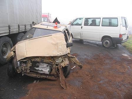 Nehoda v Miloticích nad Opavou.