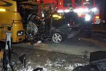 K vážné nehodě došlo ve středu 23. února kolem osmé hodiny večer mezi Lomnicí a Dětřichovem nad Bystřicí.