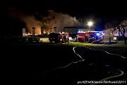 Požár stolárny 13. dubna ve Staré Rudné.