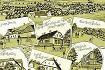 Litografie Třemešné z konce 19. století. Takovou půvabnou pohlednici mohl svým přáletům poslat autor zápisků K. J. Starožitnický, který Třemešnou navštívil v roce 1886.