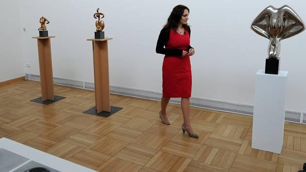 Z výstavy Sochy a kresby Stanislava Kolíbala v ostravském Domě umění.