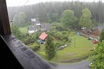 Výhled z věže v Nové Vsi nad Dolní Moravicí. Ilustrační foto.