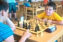 Tomáš Grček během šachového turnaje.