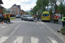 Ve Vrbně pod Pradědem došlo vpátek 17. 5.  v15.40 hodin ke střetu osobního vozidla Volkswagen Passat a motocyklu Triumph. Policie hledá svědky této vážné nehody.
