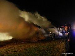Na osm set tisíc korun odhaduje majitel z Břidličné škodu vzniklou na hospodářské budově, která vzplála v noci na pátek 26. října.