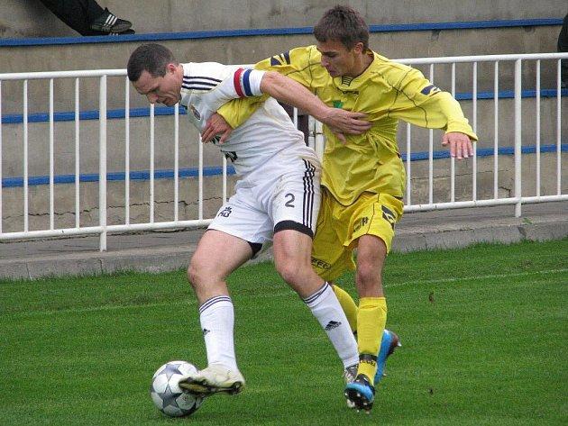 Fotbalisté Krnova v akci - ilustrační foto.