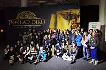 Krnovská škola jela do Brna na výstavu Poklad Inků.