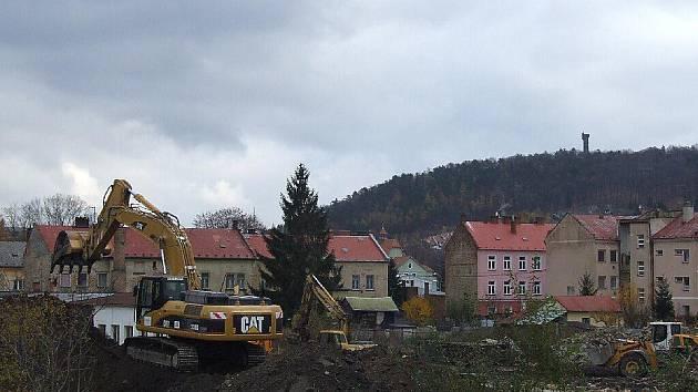 Stavební práce už začaly.