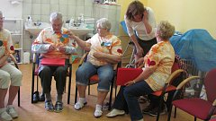 Účastníci dobrovolnického dne absolvovali s klienty domova program a prohlédli si ubytovací a společenskou část i zázemí domova.