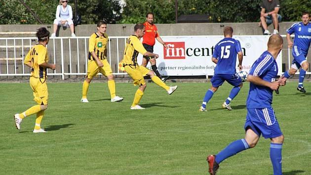 Fotbalisté Krnova budou v neděli usilovat o první vítězství.