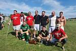 Na turnaji čtyř týmů se z vítězství radovali fotbalisté Chomýže. Foto: Jan Pitřík