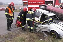 Do cvičení na Osoblažsku se zapojili i polští profesionální hasiči