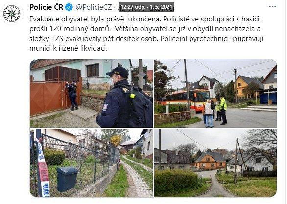 Vobci Sosnová byla nalezena nevybuchlá letecká puma zobdobí druhé světové války. Nález si vyžádal uzavření a evakuaci obce, 1.května 2021.