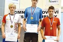 Roman Procházka (vpravo) bronzový na MČR.