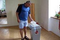 Sedmasedmdesát voličů se zúčastnilo referenda, které mělo rozhodnout, zda bude obec Nové Heřminovy  dál bojovat proti vládou schválené výstavbě přehrady. Svůj hlas do urny vhodil i Miroslav Houdek.