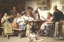 Selský lid je častým námětem obrazů Josefa Kinzela, od jehož smrti právě uplynulo rovných  90 let.