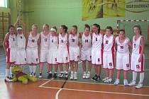 Basketbalové dorostenky Lokomotivy Krnov.