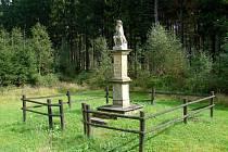 Socha Ecce Homo v sedle Rozvodného vrchu