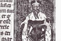 Jošt Lucemburský, moravský markrabě, potvrdil městu Krnovu jeho privilegia i výsady. Toto zobrazení Jošta najdeme v Codexu Gelnhausensis.