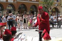 Dechový orchestr mladých odehrál závěrečný koncert v sobotu 28. června na zaplněném krnovském náměstí.