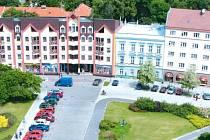 Pohled z krnovské radniční věže. Ilustrační foto.