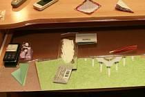 Výsledek domovní prohlídky v rýmařovském bytě: rostlinná hmota ve velkém i malém balení, a papírová psaníčka s bílým práškem. Zkušeným policistům bylo jasné, že jde o marihuanu a pervitin.