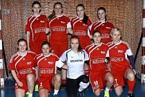 Halový turnaj v kopané žen se stal kořistí domácích fotbalistek, A-týmu FC Slavoj Olympia Bruntál.
