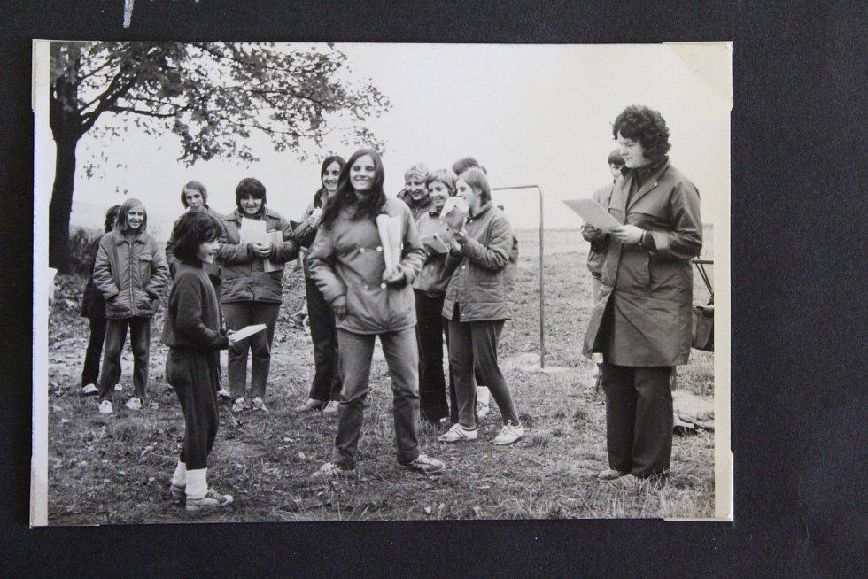 Branné odpoledne pro děti v Leskovci nad Moravicí 14. října 1972.