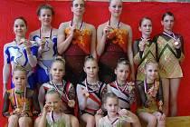 Bruntálské moderní gymnastky.