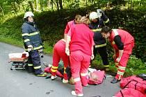 Pět zraněných si vyžádala červnová dopravní nehoda, která se udála na silnici mezi Vrbnem pod Pradědem a Karlovicemi.